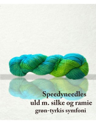 Speedyneedles uldgarn med silke og ramie