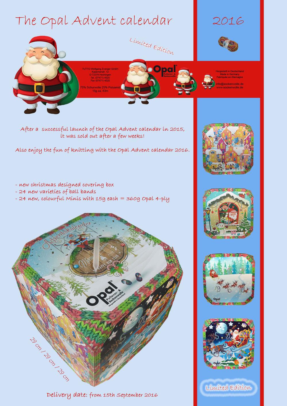 opal strømpegarn julekalender 2016