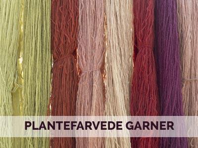 uldgarn indfarvet med planter, plantefarvet garn