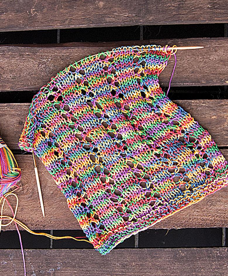 strikket halstørklæde, strikkekit