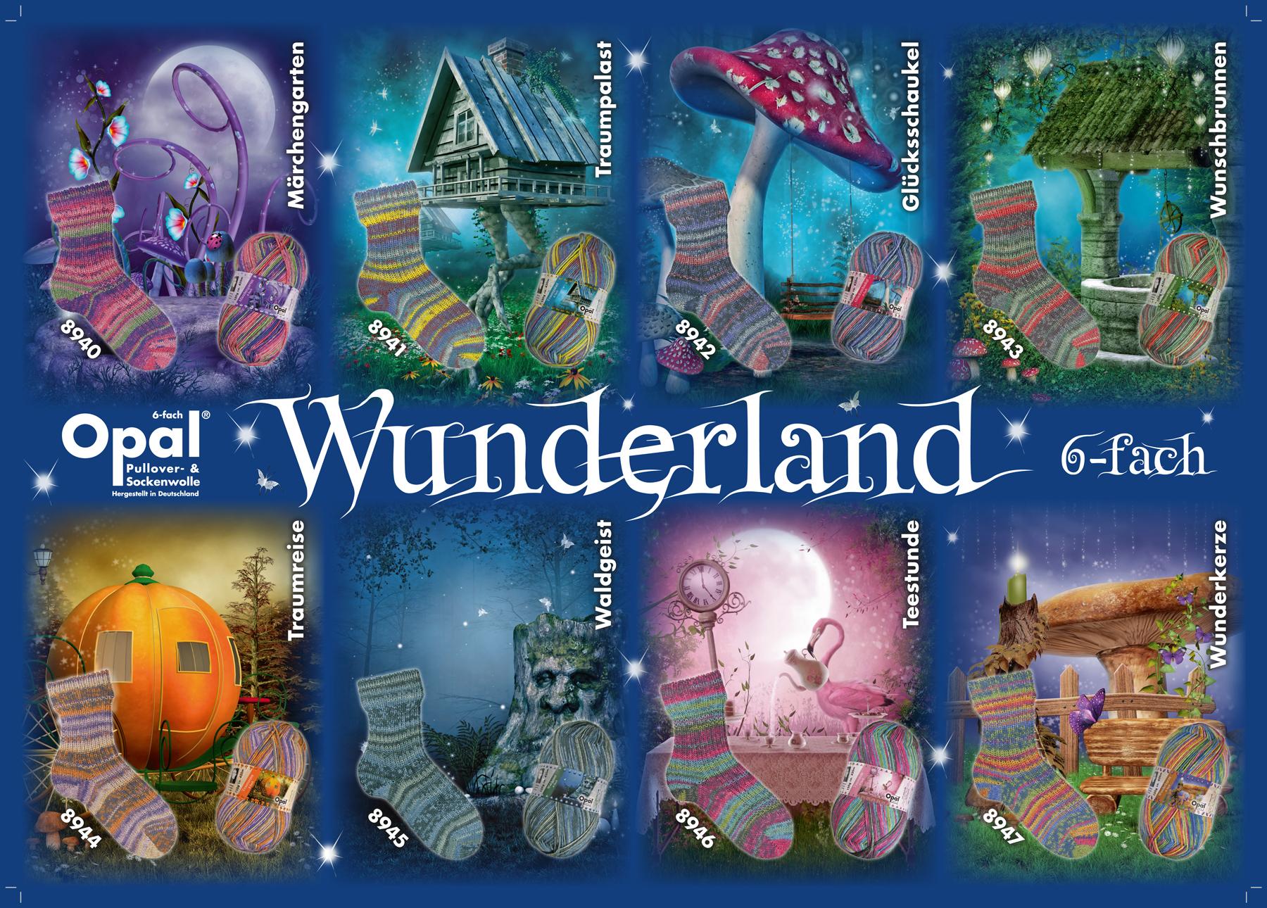 """6-trådet strømpegarn fra Opal """"Wunderland"""""""