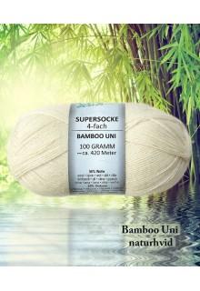 strømpegarn med bambus - Bamboo Uni