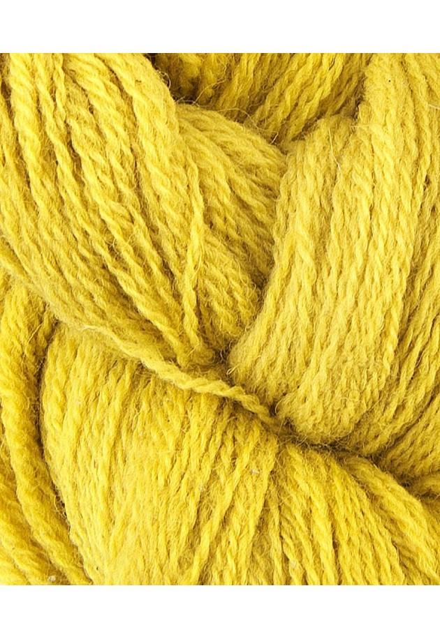 uldgarn plantefarvet - Speedyneedles Aran /forårsgul