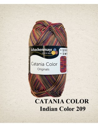 Merceriseret bomuldsgarn, Schachenmayr, indien Color 209, Catania Color