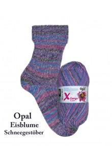 strikkede vanter Eisblume - 8-trådet sokkegarn