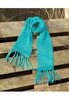 Strikkekit halstørklæde i netmønster