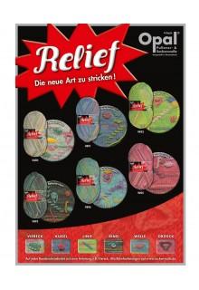 Strømpegarn Relief - strømpegarn med et twist! Oversigt over alle farver.