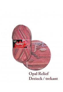 Strømpegarn. Relief - strømpegarn med et twist! Sart rosa, syren og antracit på en sart laksefarvet bund.