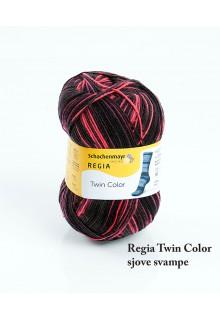 Strømpegarn Regia Twin i syrede farver. Neonorange skønne fartstriber.