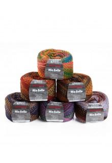 Strikkegarn uld og polyacryl  Mia Bella med skønne brede farveforløb alle farver