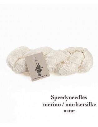 Merino / morbærsilke - med spindefejl