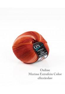 strømpegarn ekstrafin merino flammende rødbrune farver som det skønneste efterårsløv