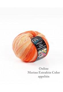 strømpegarn ekstrafin merino i en skøn varm appelsinfarvet nuance