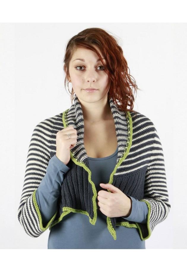 Op og ned i striber - strikkekit