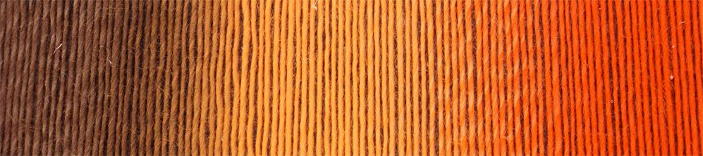 Schoppel Wolle Laceball 100, Für Louise. Der vises farveforløbet fra mørke brun til varme orange toner