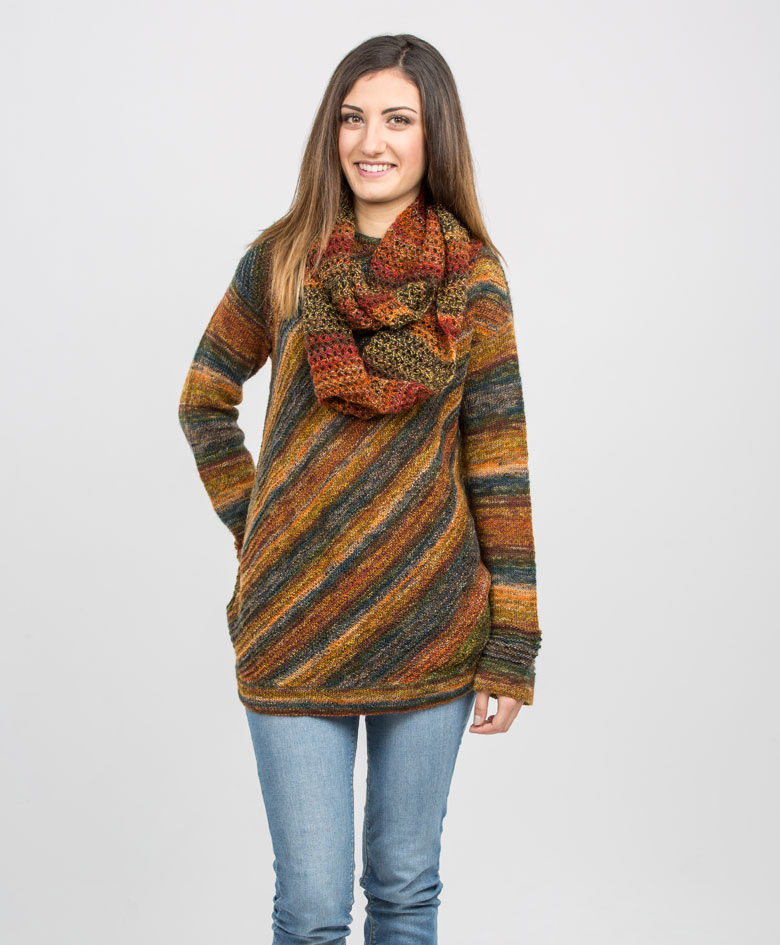 Mia Bella strikkegarn, gratis opskrift sweater